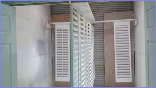 shutters in spray booth