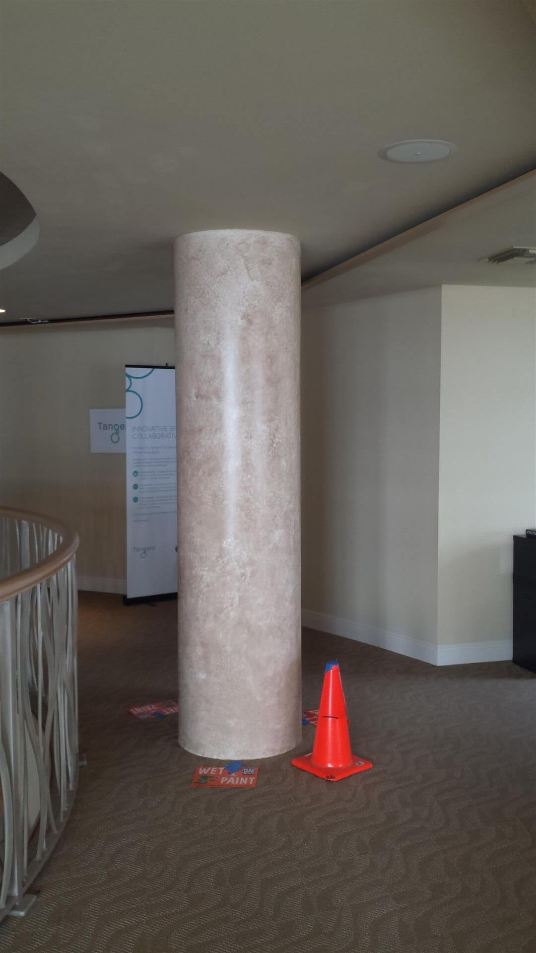 Faux finished column