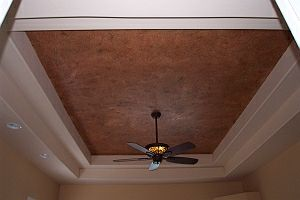 faux ceiling after