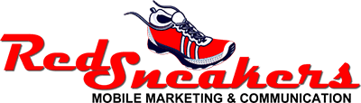 Red Sneakers Mobile Marketing Logo